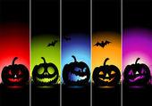 Banners de halloween para su diseño — Vector de stock