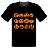 Halloween holiday, t-shirt design — Stock Vector