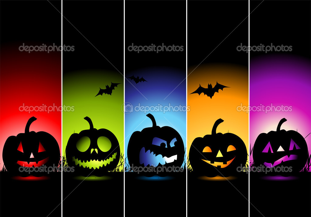 Halloween banners for your design — Imagen vectorial #1949391