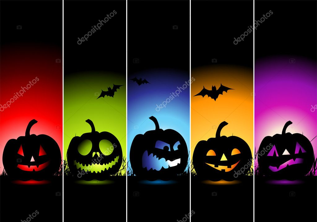 Halloween banners for your design — Grafika wektorowa #1949391