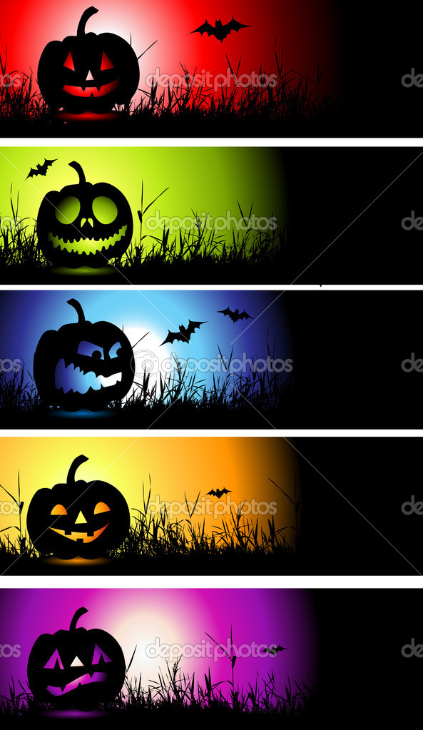 Halloween banners for your design — Stock Vector #1949395