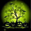 Royalty-Free Stock Vectorielle: Halloween pumpkins illustration