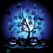 Halloween pumpkins illustration - Stock Vector