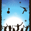 Funny party, holiday — Imagen vectorial