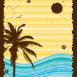 Summer holiday, abstract frame — Vector de stock