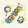 Royalty-Free Stock Vector Image: Percent sign. Floral design.