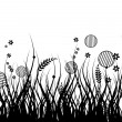 Royalty-Free Stock Imagen vectorial: Meadow silhouette seamless