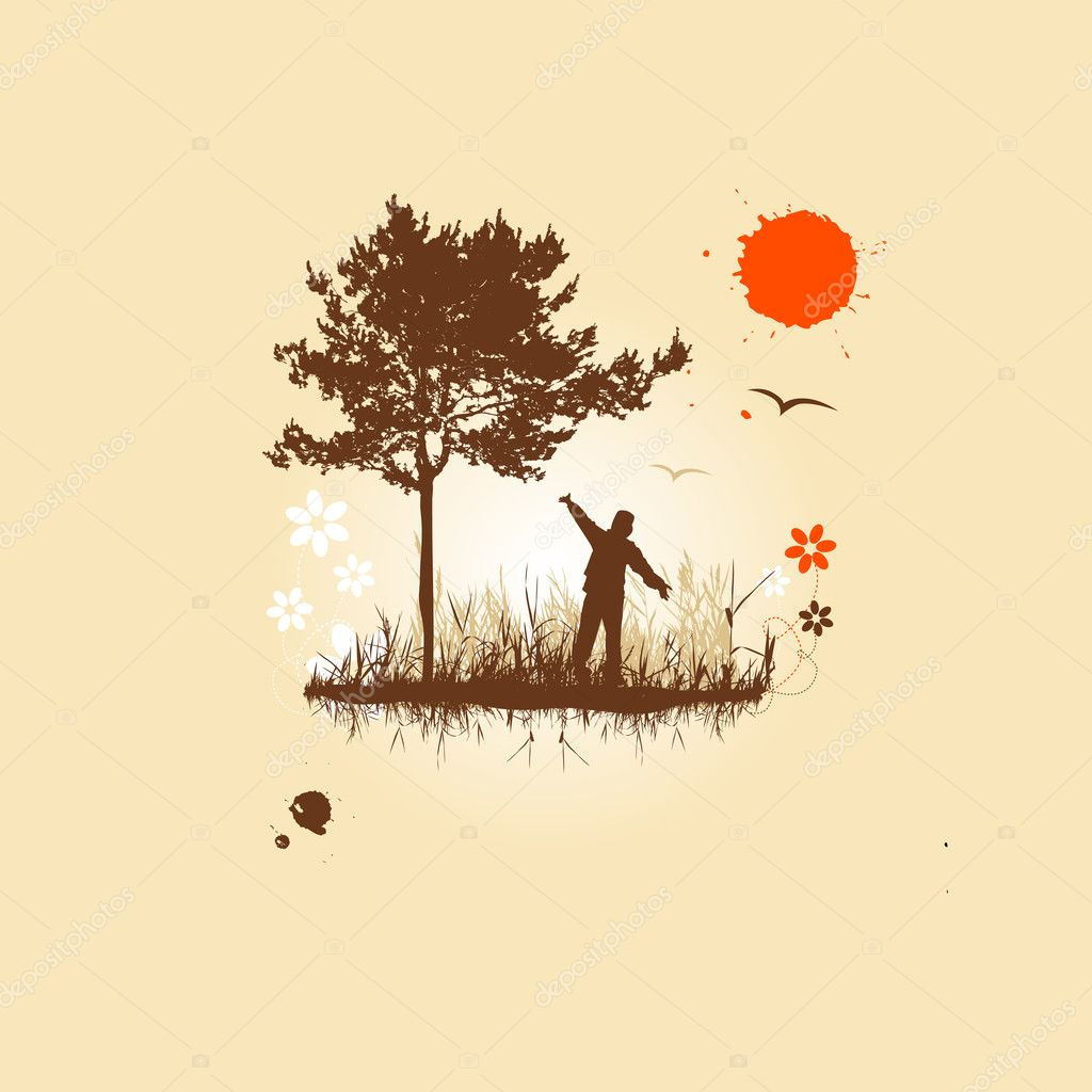 And nature  Stock Vector #1950307