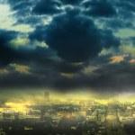 Cityscape background, night scene — Stock Photo #2331705