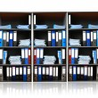 Rack with documents — Stockfoto