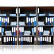 Rack with documents — Stock Photo