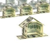 Dollar house concept — Stock Photo