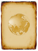 Ancient world map, globe — Stock Photo