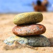 Stones on the seashore — Stock Photo
