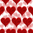 Valentine card, hearts red background — Stock Photo #2420427