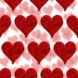 Stock Photo: Valentine card, hearts red background