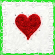 Stock Photo: Valentine card, hearts red
