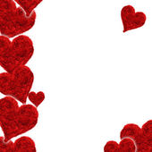 Valentine card, hearts red — Stock Photo