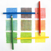 Color mix, pencils — Stock Photo