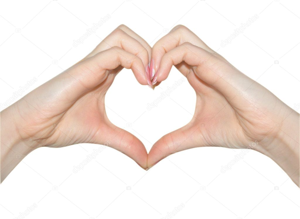 Love, hands of heart shape  Stock Photo #2583328
