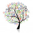 Royalty-Free Stock Vector Image: Connecting peoples, web tree