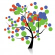Funny art tree for your design — Stock vektor