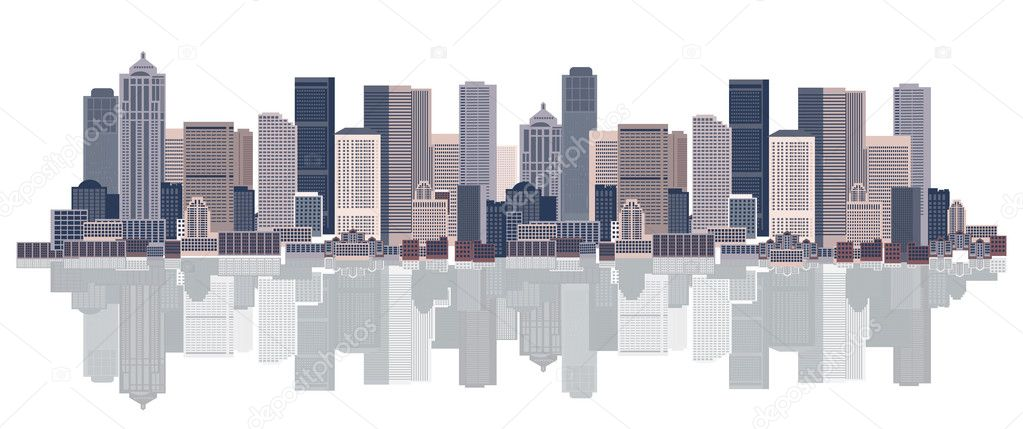 Cityscape background, urban art  Stock Vector #2659296