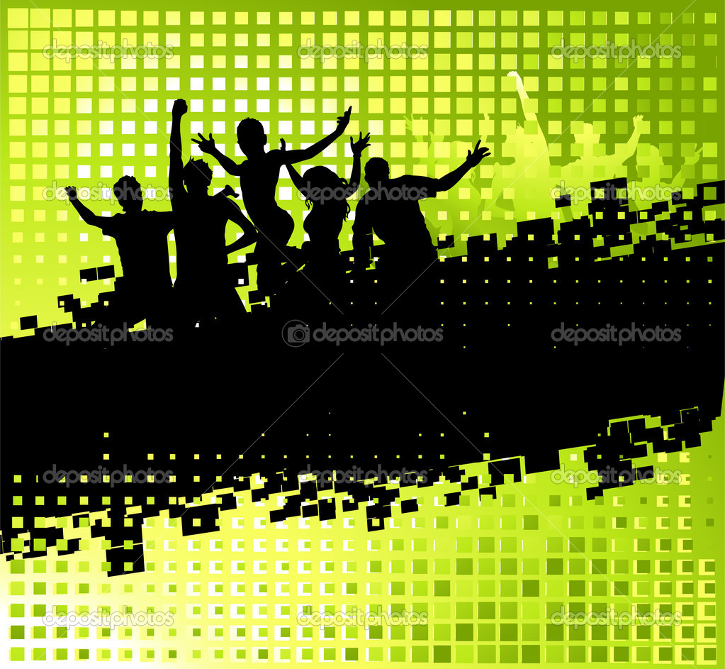 Funny party background with place for your text  Imagen vectorial #2659504