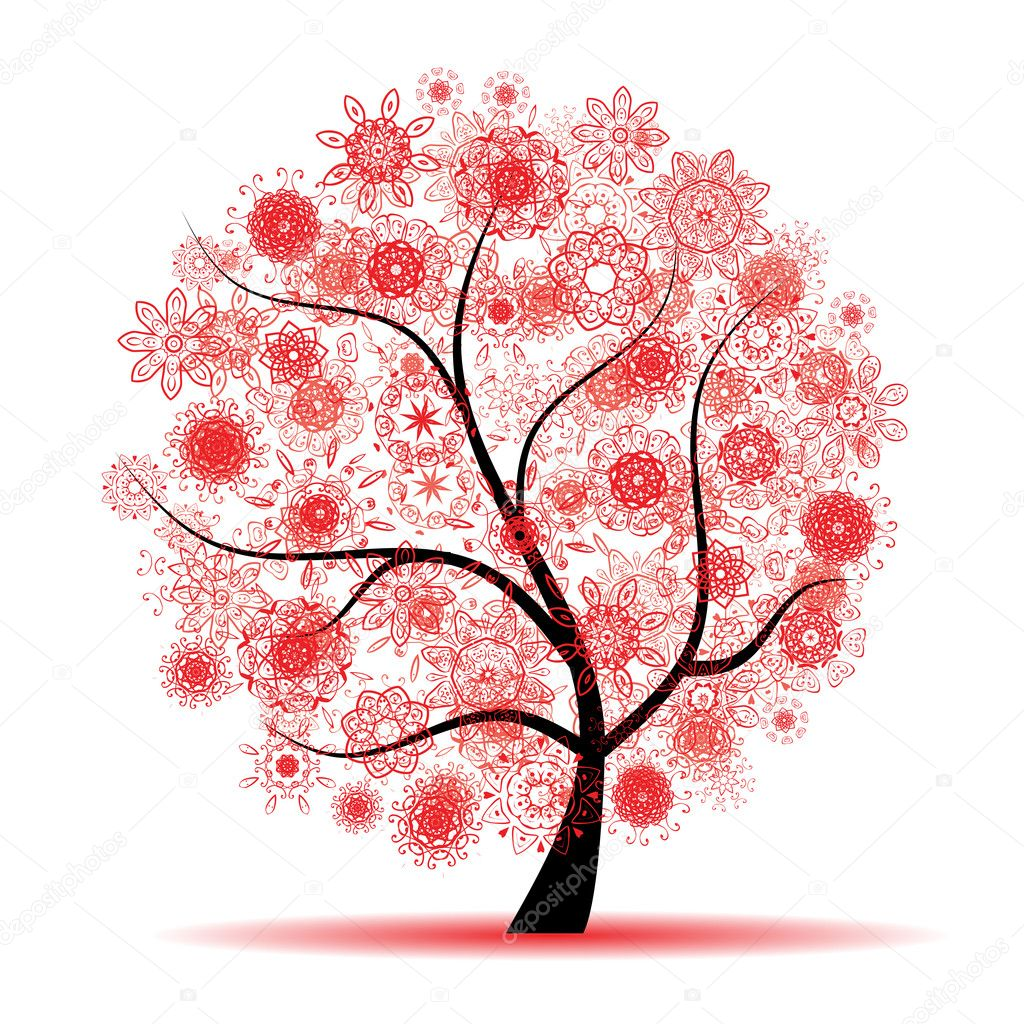Floral tree beautiful  Image vectorielle #2659875