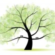 Great old tree for your design — Stock Vector