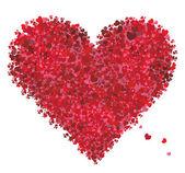 Valentine heart shape, love — Stock Vector