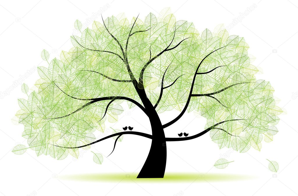 Great old tree for your design — Stock Vector #2660589
