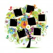 Vector de stock : Family album. Floral tree