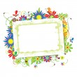 Floral frame beautiful with place for yo — Stock Vector #2683773