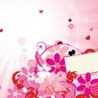 Pink floral background for your design — Imagen vectorial