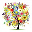 Floral tree beautiful — Stock Vector #2683821