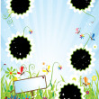 Summer meadow, insert text or photo into — Stock Vector