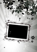 Floral frame with place for your text an — Stock Vector