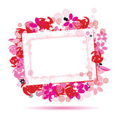Floral frame beautiful with place for yo — Stock Vector