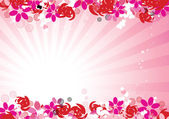 Pink floral background for your design — ストックベクタ
