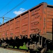 Rusty brown freight cars — Stock Photo
