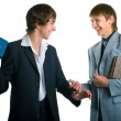 Two young businessmen — Stock Photo