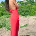 Girl in red dress — Stock Photo #1066327