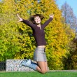 Nice jumping girl - Stock Photo