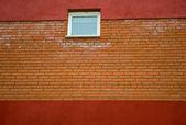 Eski kırmızı duvar — Stok fotoğraf