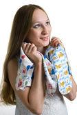 Mulheres grávidas com camiseta — Foto Stock