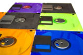 Several diskettes — Stock Photo