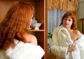 Stara kobieta w futrze 2 — Zdjęcie stockowe