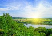 Белая река — Стоковое фото