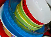 Plates of the different form — Stock Photo